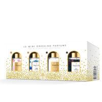 """Mini dressing parfums Y'a d'la joie avec 4 parfums 15ml """"Y'a d'la joie"""", """"Tombé du ciel"""", """"Sous les étoiles"""" et """"Nuit féérique"""" par Margot&Tita."""