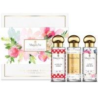 """Coffret cadeau trio Les incontournables avec 3 parfums 30ml """"Il était une rose"""", """"Alors on danse"""" et """"La femme parfaite"""" par Margot&Tita. Découvrez les 3 parfums best seller."""