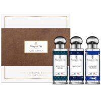 """Coffret cadeau trio Quel homme avec 3 parfums vegan de 30ml """"Ça baigne pour moi"""", """"Séducteur absolu"""" et """"Dandy chic"""" par Margot&Tita. Découvrez des notes boisées et marines."""