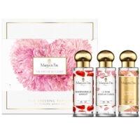 """Coffret cadeau trio Un amour de fleurs avec 3 parfums 30ml """"Mademoiselle Margot"""", """"Le rose vous va si bien"""" et """"Scarlett & Jayne"""" par Margot&Tita. Découvrez des notes florales et délicates."""