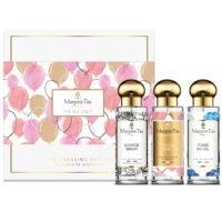 """Coffret cadeau trio Y'a d'la joie avec 3 parfums 30ml """"Tombé du ciel"""", """"Y'a d'la joie"""" et """"Elixir de minuit"""" par Margot&Tita. Découvrez des notes fruitées, gourmands et orientales."""