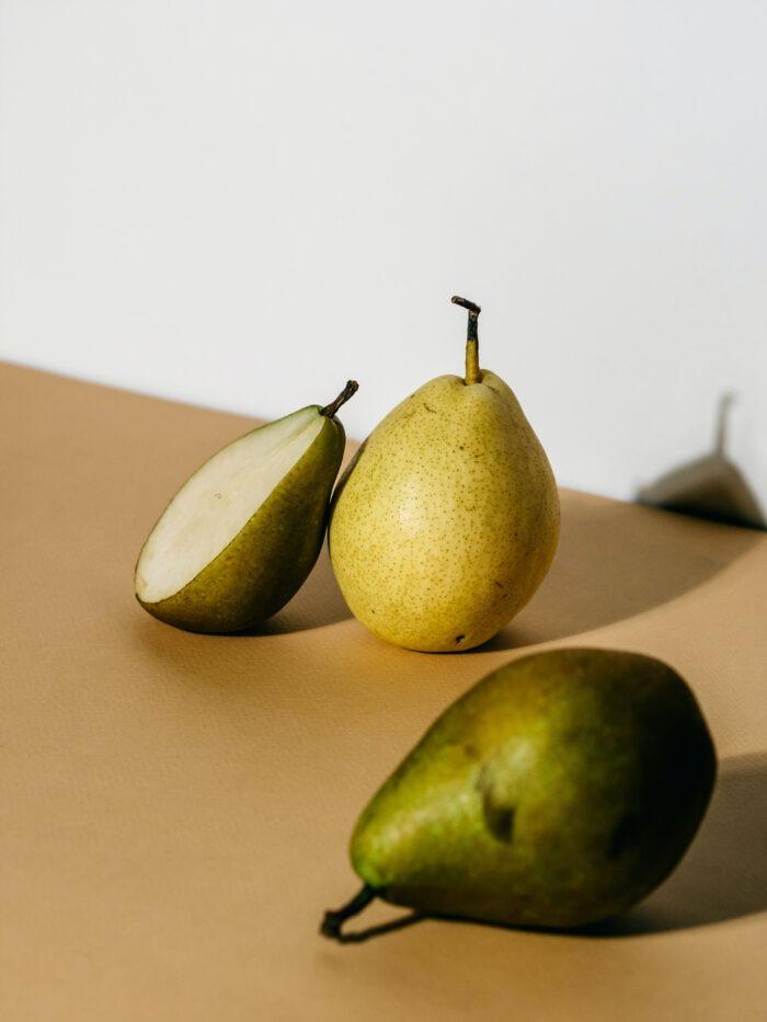Poire, fruit juteux
