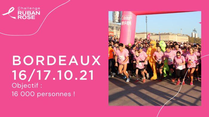 Challenge du ruban rose à Bordeaux les 16 et 17 octobre 2021.